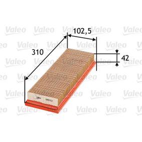 въздушен филтър 585002 с добро VALEO съотношение цена-качество