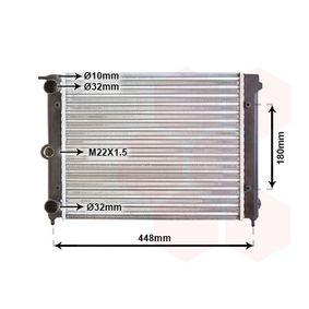 compre VAN WEZEL Radiador, arrefecimento do motor 58002038 a qualquer hora
