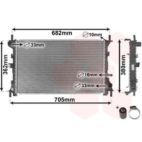 Radiatore, Raffreddamento motore 18002264 con un ottimo rapporto VAN WEZEL qualità/prezzo