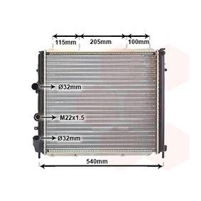 Radiatore, Raffreddamento motore 43002174 con un ottimo rapporto VAN WEZEL qualità/prezzo