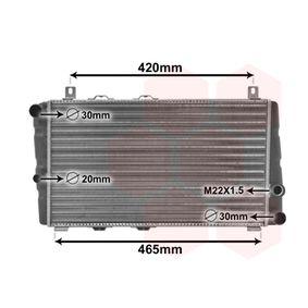 Radiatore, Raffreddamento motore VAN WEZEL 76002002 comprare e sostituisci