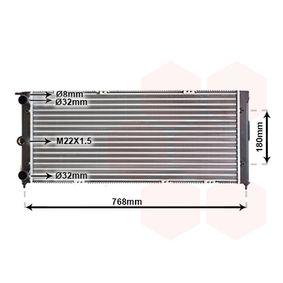 Radiateur, refroidissement du moteur 58002037 à un rapport qualité-prix VAN WEZEL exceptionnel