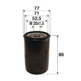 Filtro de óleo 586002 com uma excecional VALEO relação preço-desempenho