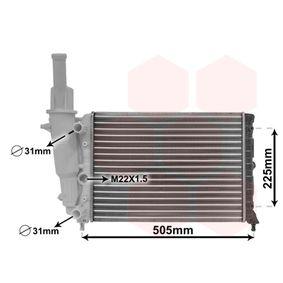Radiatore, Raffreddamento motore 17002138 con un ottimo rapporto VAN WEZEL qualità/prezzo