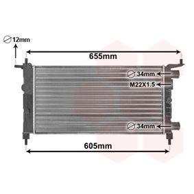Radiatore, Raffreddamento motore 37002261 con un ottimo rapporto VAN WEZEL qualità/prezzo
