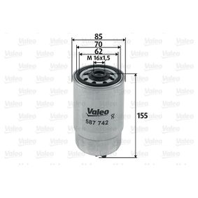 buy and replace Fuel filter VALEO 587742