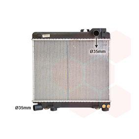 Radiatore, Raffreddamento motore 06002027 con un ottimo rapporto VAN WEZEL qualità/prezzo