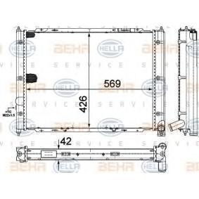 Radiateur, refroidissement du moteur 8MK 376 713-634 HELLA Paiement sécurisé — seulement des pièces neuves