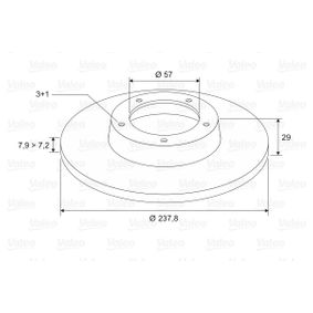 Brake Disc 186130 VALEO Secure payment — only new parts
