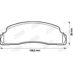 Jogo de pastilhas para travão de disco 571244D com uma excecional JURID relação preço-desempenho