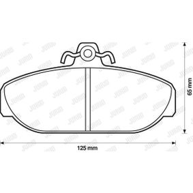 Brake Pad Set, disc brake 571404D for VOLVO 760 at a discount — buy now!