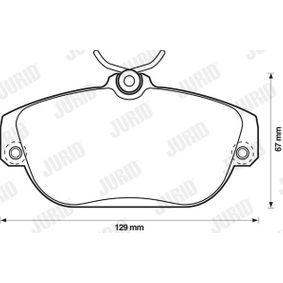 Brake Pad Set, disc brake 571456D for VOLVO V90 Estate at a discount — buy now!