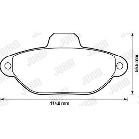 Brake Pad Set, disc brake 571528D for FIAT cheap prices - Shop Now!