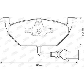 Bromsbeläggssats, skivbroms 573201J-AS för VOLVO S60 till rabatterat pris — köp nu!