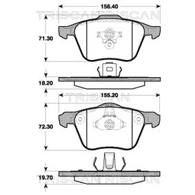 Brake Pad Set, disc brake 8110 27010 for VOLVO XC 90 at a discount — buy now!