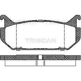 комплект спирачно феродо, дискови спирачки TRISCAN 8110 50184 купете и заменете
