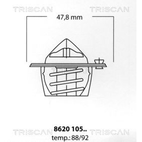 TRISCAN Termostato, Refrigerante 8620 10588 acquista online 24/7