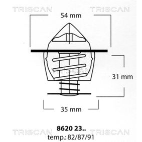 kupte si TRISCAN Termostat, chladivo 8620 2387 kdykoliv