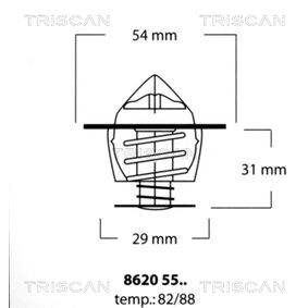 buy TRISCAN Thermostat, coolant 8620 5588 at any time