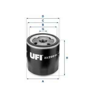 UFI Filtro de aceite 23.299.00 24 horas al día comprar online