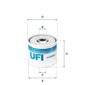 UFI Filtro combustible 24.360.01 24 horas al día comprar online