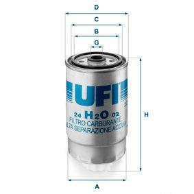 palivovy filtr 24.H2O.02 UFI Zabezpečená platba – jenom nové autodíly