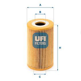 Filtre à huile 25.008.00 à un rapport qualité-prix UFI exceptionnel