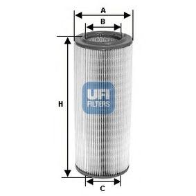 Kupte a vyměňte Vzduchový filtr UFI 27.381.00