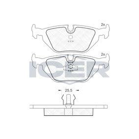 ICER 180021 Juego de Pastillas de Freno