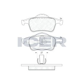 Bromsbeläggssats, skivbroms 181298 V70 II (SW) 2.4 140 HKR originaldelar-Erbjudanden