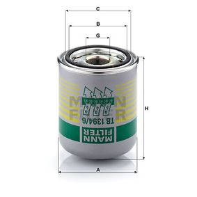 Köp MANN-FILTER Lufttorkarpatron, kompressorsystem TB 1394/6 x