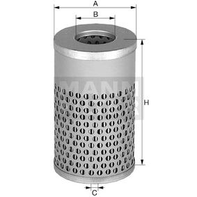 Bestil H 617 n MANN-FILTER Filter, arbejdshydraulik nu