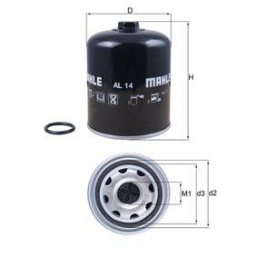 Köp MAHLE ORIGINAL Lufttorkarpatron, kompressorsystem AL 14D