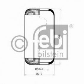 Buy FEBI BILSTEIN Boot, air suspension 15301