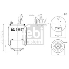 buy FEBI BILSTEIN Boot, air suspension 38827 at any time