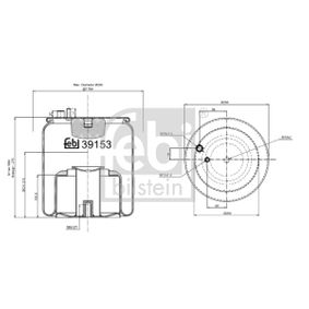FEBI BILSTEIN Burduf, suspensie pneumatica 39153 cumpărați online 24/24