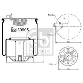 Buy FEBI BILSTEIN Boot, air suspension 39905