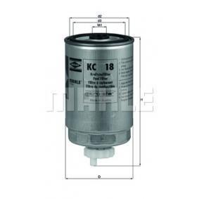 Comandați KC 18 KNECHT filtru combustibil acum