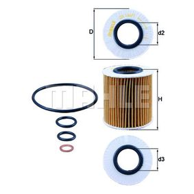 buy and replace Oil Filter KNECHT OX 166/1D