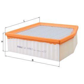 въздушен филтър LX 1479/2 с добро KNECHT съотношение цена-качество