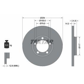 Disco freno 92037900 con un ottimo rapporto TEXTAR qualità/prezzo