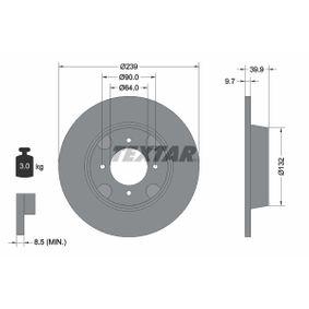 Compre e substitua Disco de travão TEXTAR 92020600