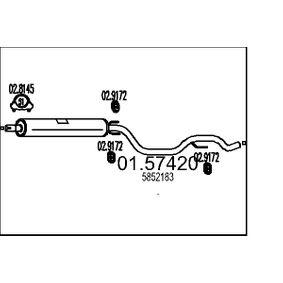 Keskiäänenvaimentaja 01.57420 Vectra C GTS Hatchback 2.2 16V (F68) 147 HV alkuperäisosat-Tarjoukset