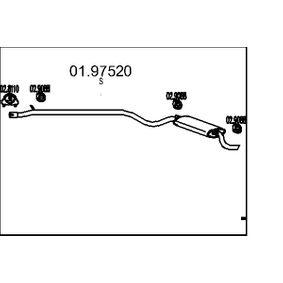 Zadni tlumic vyfuku 01.97520 s vynikajícím poměrem mezi cenou a MTS kvalitou