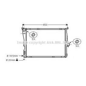 Radiatore, Raffreddamento motore BWA2304 con un ottimo rapporto PRASCO qualità/prezzo