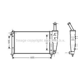 Radiatore, Raffreddamento motore FTA2218 con un ottimo rapporto PRASCO qualità/prezzo