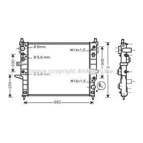 Radiateur, refroidissement du moteur MSA2332 à un rapport qualité-prix PRASCO exceptionnel
