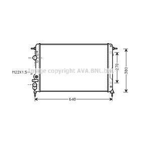 Radiatore, Raffreddamento motore PRASCO RTA2241 comprare e sostituisci