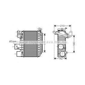 PRASCO интеркулер (охладител за въздуха на турбината) TO4365 купете онлайн денонощно