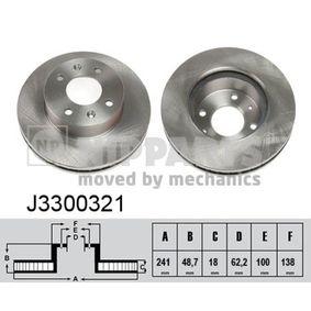 Bremsscheibe von NIPPARTS - Artikelnummer: J3300321